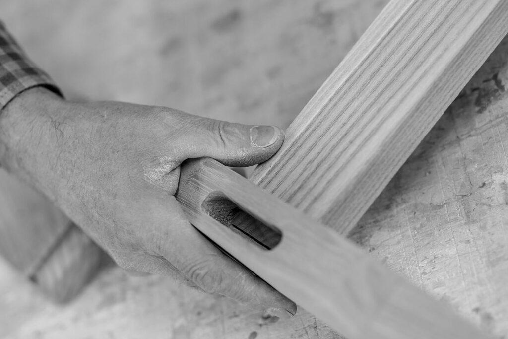 Holz Handwerk Stoll Businessportrait Silbersalz Fotografie Suedtirol